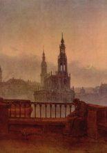 Blick auf Dresden mit Hofkirche und Schloss