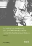 E-Book/PDF: Rechtliche Bedeutung der Ethik der Ehrfurcht vor dem Leben